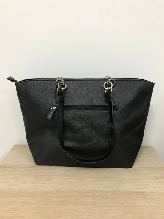 Sleek Black Tote Handbag