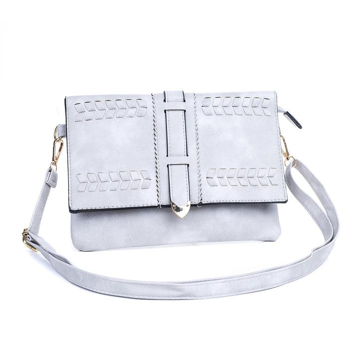 Grey Braid Detail with Buckle Bag