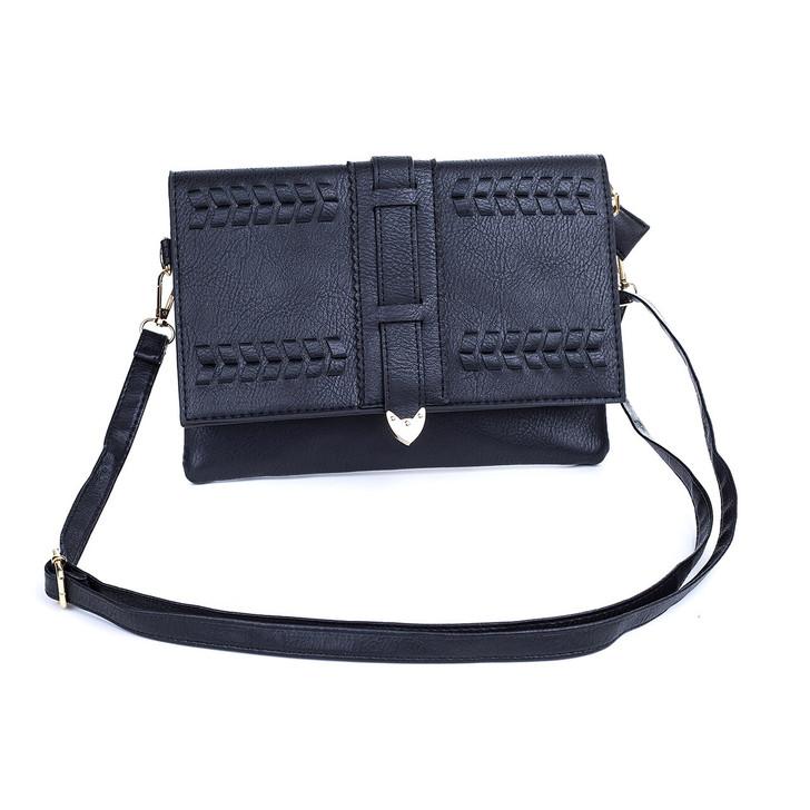 Black Braid Detail with Buckle Bag