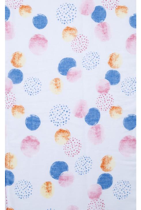 Plus Size Blue Circles Print Viscose Scarf