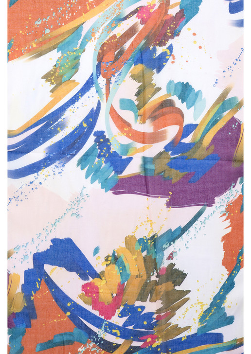 Multi Abstract Brush Strokes Scarf