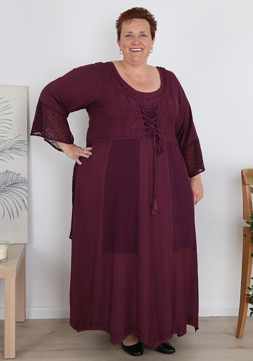 plus size wine dress