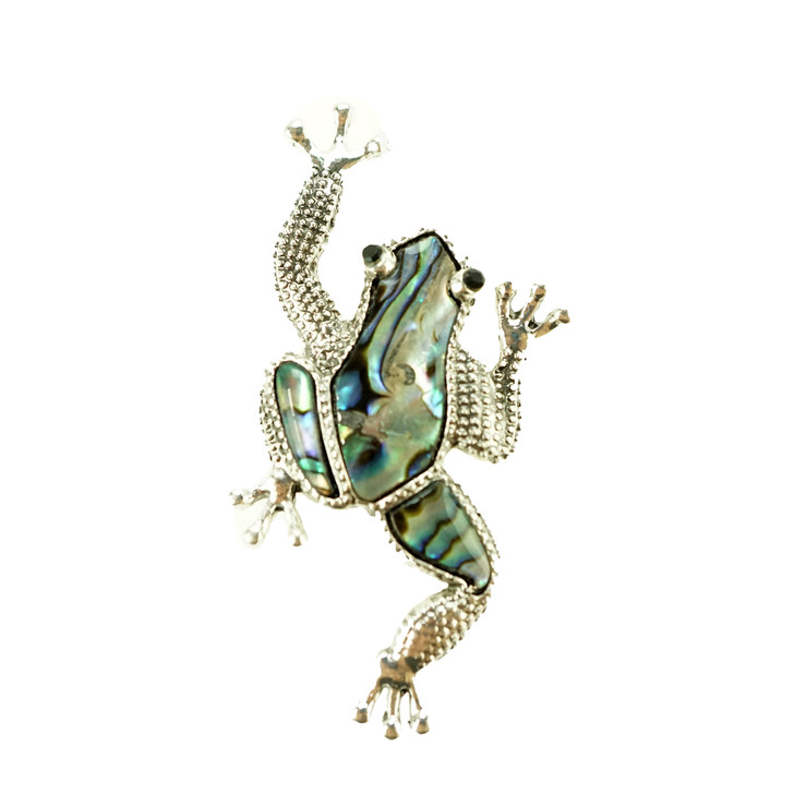 Plus Size Climbing Frog Brooch