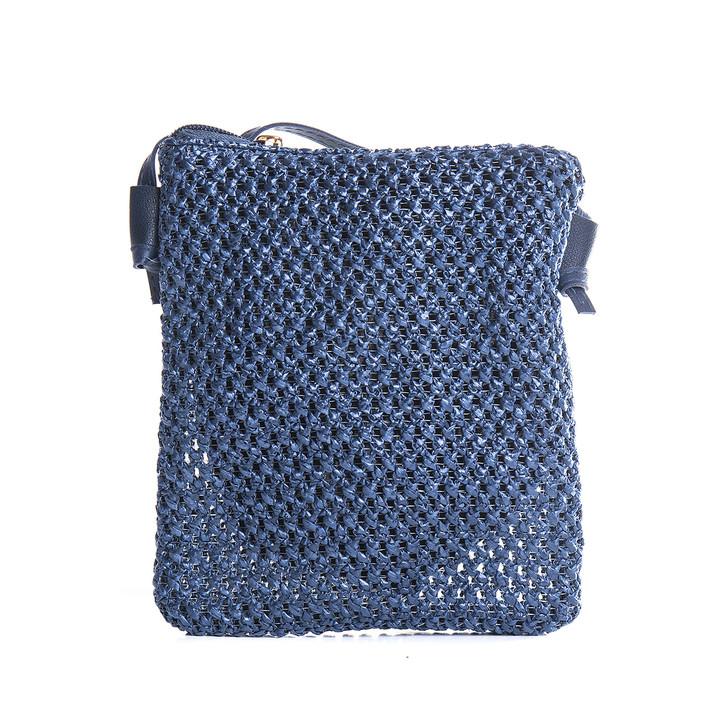 Plus Size Navy Crochet Style Acrylic Bag