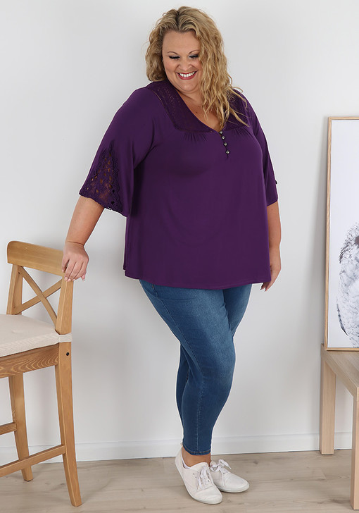 Plus Size Purple All Things Pretty Top