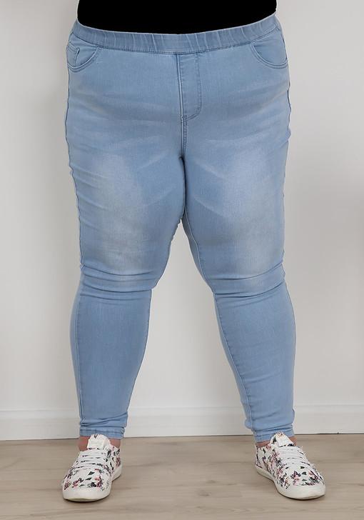 Plus Size light blue denim jeans