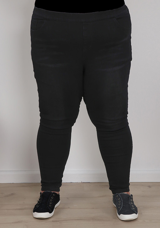 plus size black jeans with fade