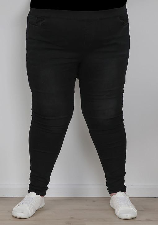 Tall Black Denim Pull On Jeans