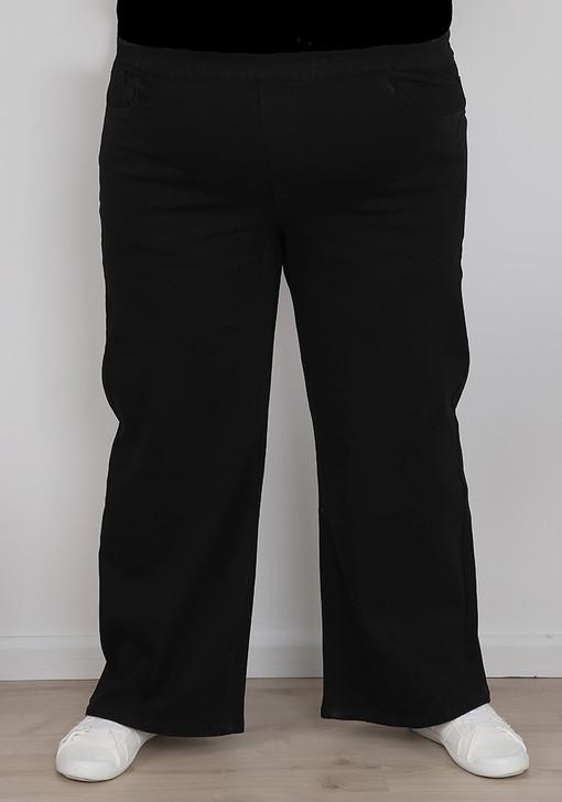 plus size matte black wide leg jeans