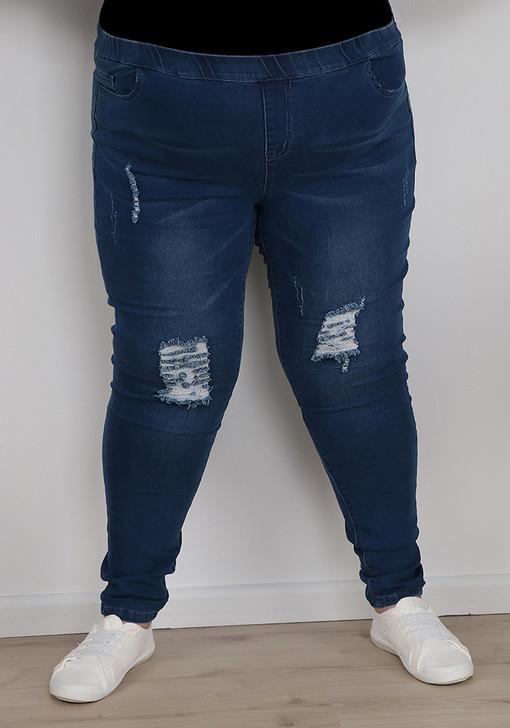 plus size tall rip denim jeans