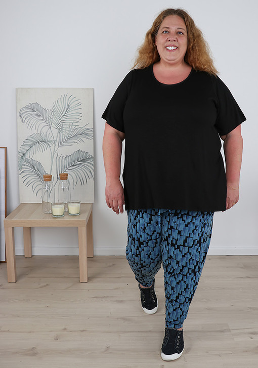 Blue Black Abstract Comfort Pants