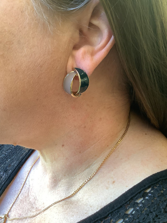 Blue and Grey Stud Earrings
