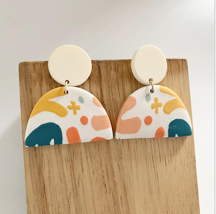 Patterned Dome  Stud Earrings