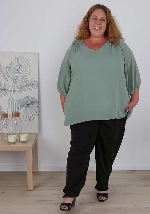 Plus Size Easy Wear Work Or Dress Pants Tall Length