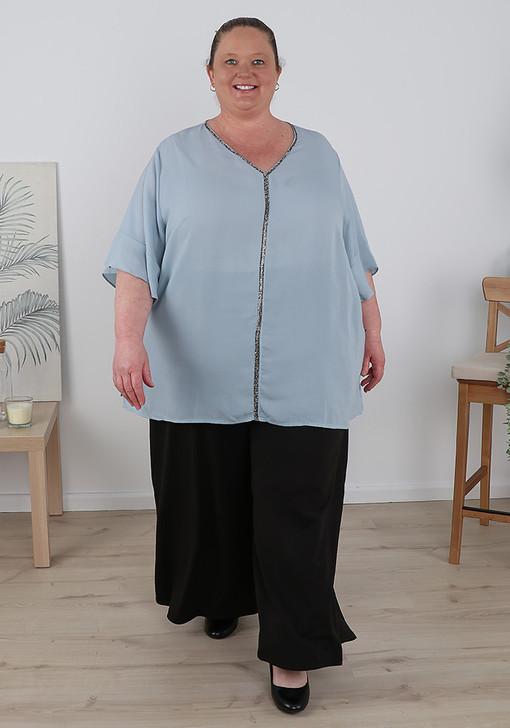 Plus Size Wide Leg Easy Wear Pant - Regular Length