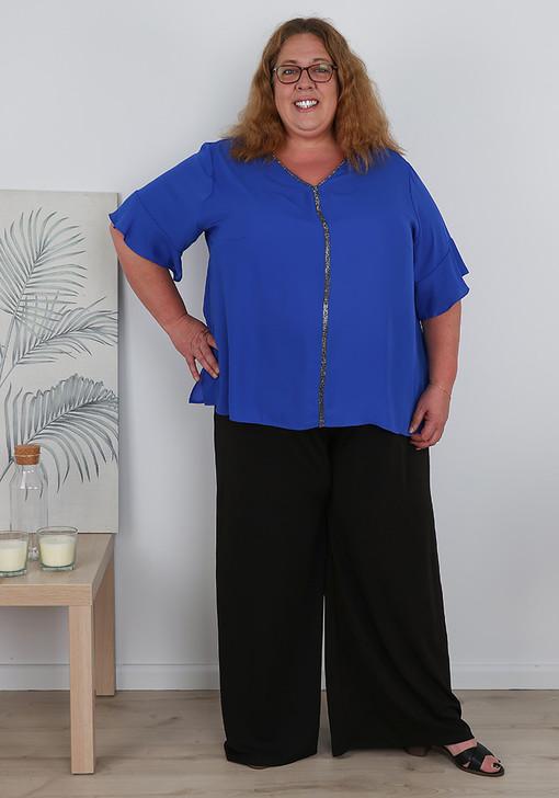 plus size wide leg pants tall length