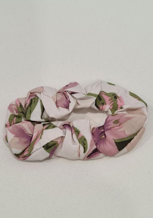 White Purple Scrunchie