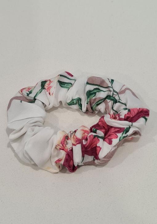 White Pinks Scrunchie