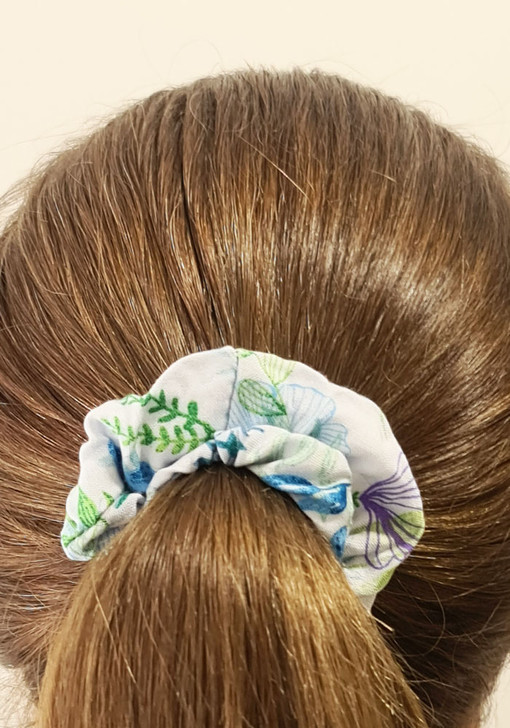 Blue Butterfly Dragonfly Scrunchie
