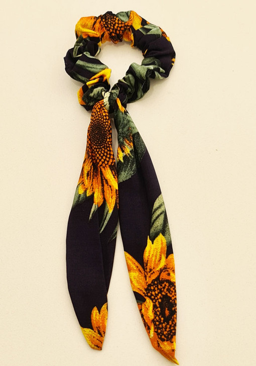Sunflower Scrunchie With Tail