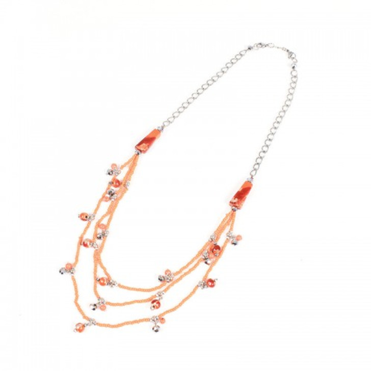 Orange Crush Multi Strand Necklace