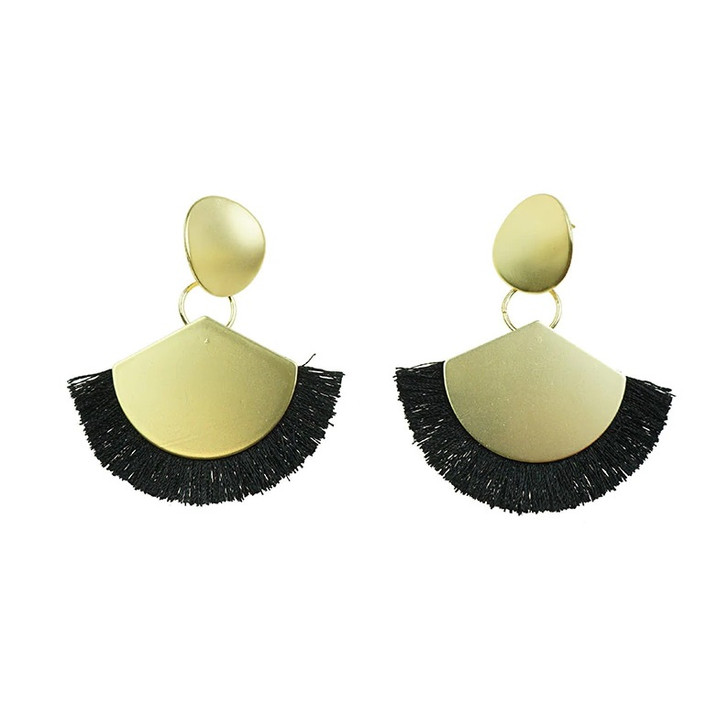 Loving My Gold Earrings With Black