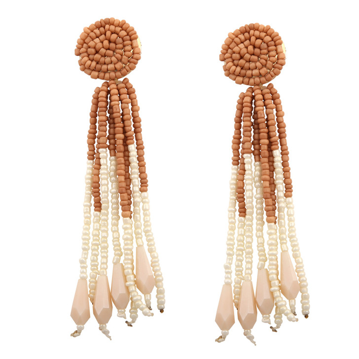 Bohemian Bead Tassel Earrings