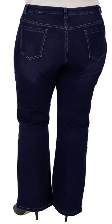 plus size blue bootcut jeans