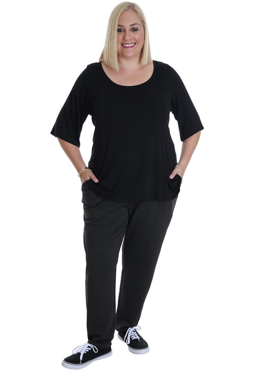 plus size charcoal pants
