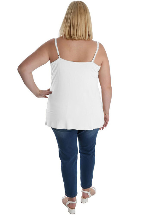 Plus Size White Fitted Cami
