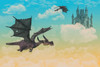 """Flying Dragon"" Digital Backdrop"