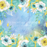 Blue Watercolour Blooms
