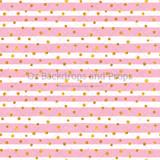 Gold Paint Pink Stripes
