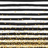 Gold Paint Spots Black Stripes