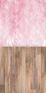 Pink Watercolour & Dakota Wood Two in One