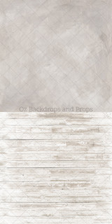 Latte Texture & Fade Out White Wood Two in One