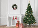 White Mantle Christmas Tree