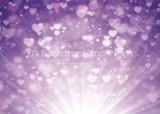 Purple Hearts Bokeh