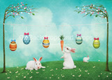 Easter Laundry with Bunnies