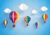 Paper Balloons with Clouds