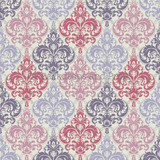 Pink and Purple Damask