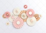 Pink Paper Fans