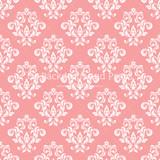 Pink White Damask