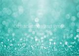 Turquoise Glitter Bokeh