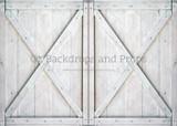 Double White Barn Doors