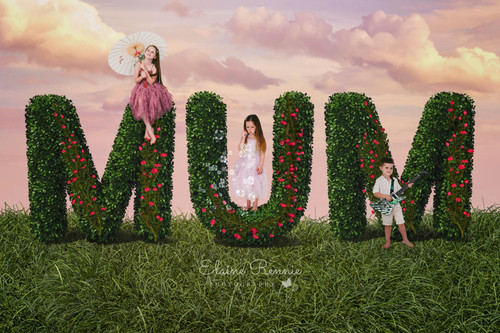 """Mum"" Mother's Day Digital Backdrop"