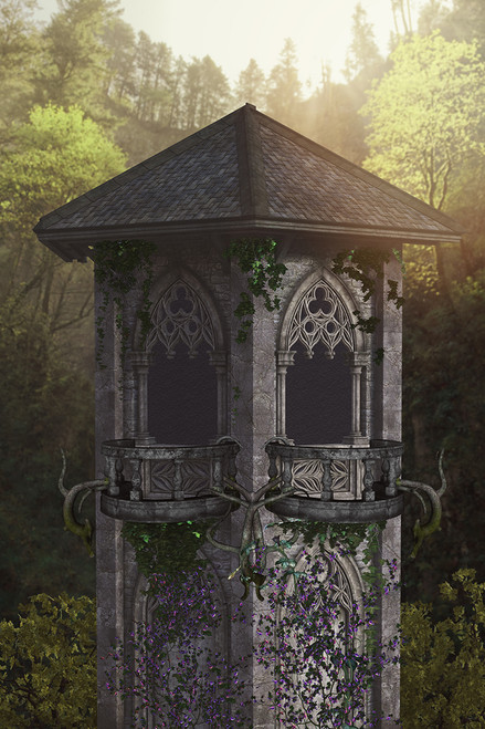 """Princess Tower"" Digital Backdrop"