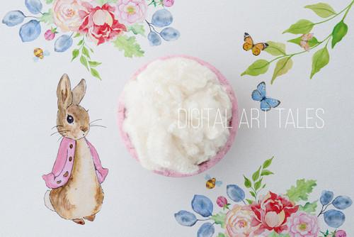 """Peter Rabbit Pink"" Digital Backdrop"
