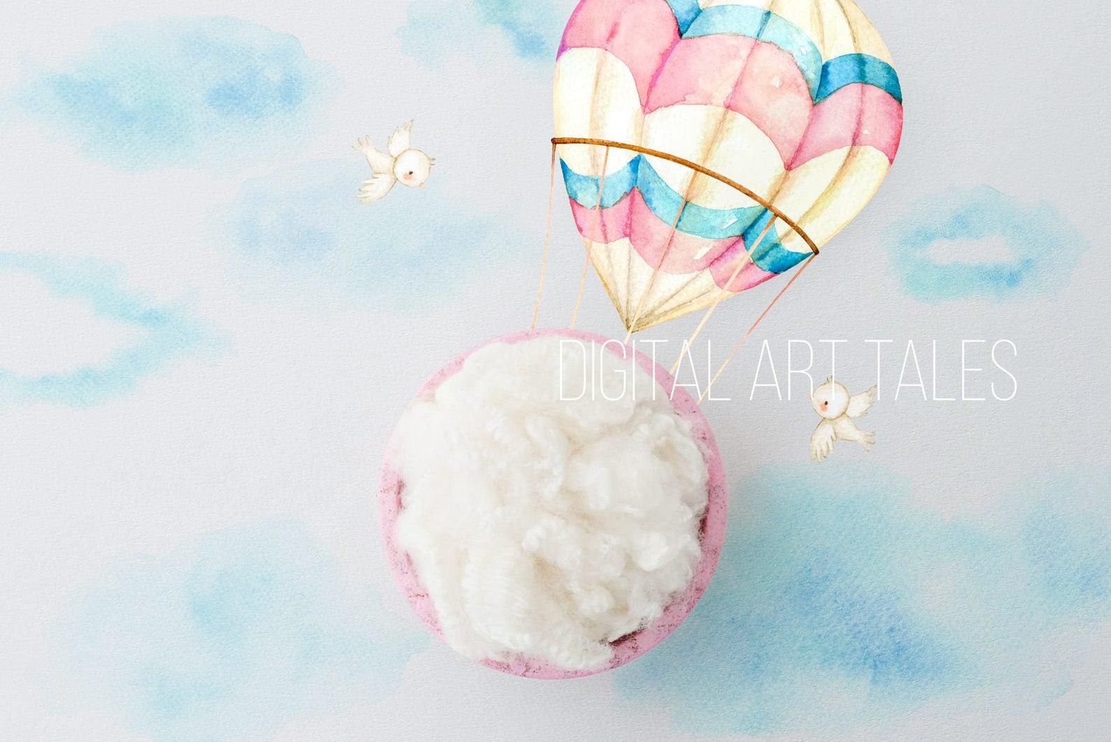 """Pink Balloon"" Digital Backdrop"