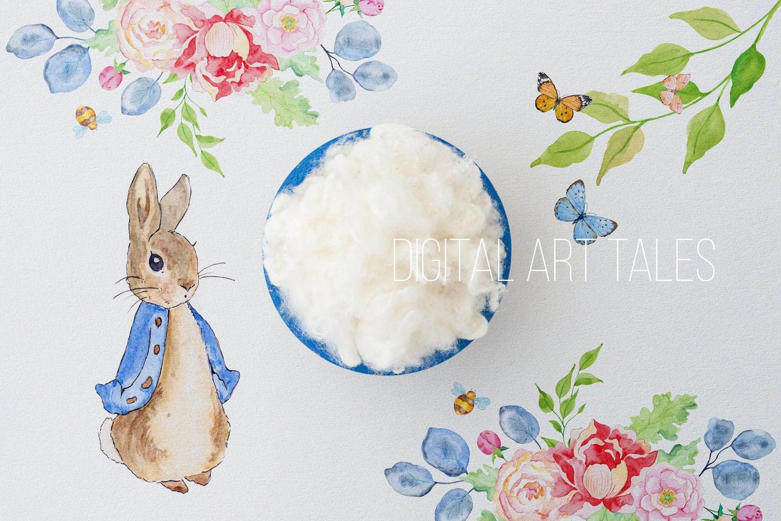 """Peter Rabbit Blue"" Digital Backdrop"